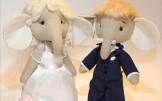 Мягкие игрушки Свадебные Слоны