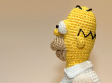 Вязаный Гомер Симпсон (crochet Homer Simpson)