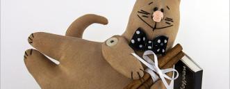 Декоративная игрушка «Кофейный кот»
