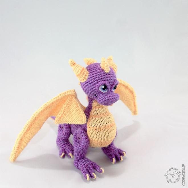 Вязаный дракон Спайро